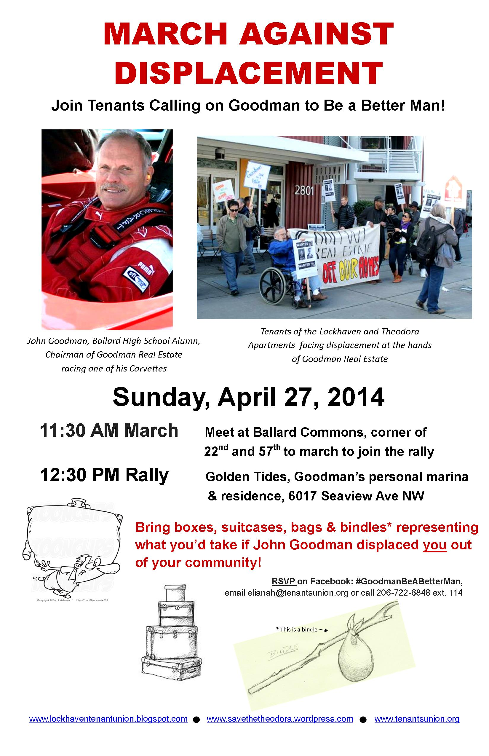 Flyer for march and rally